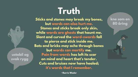 Ord og forklaringer kan gjøre vondt til verre